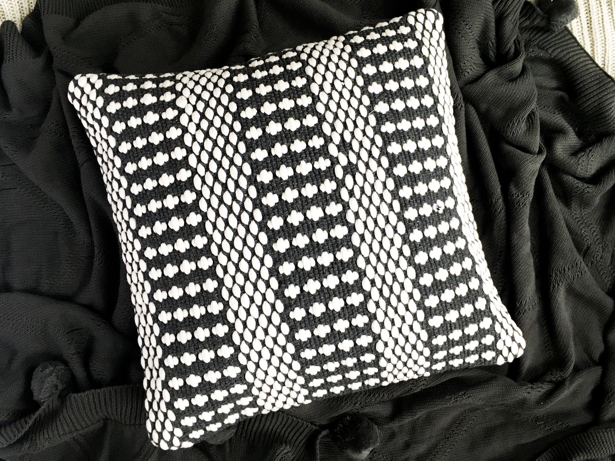 Dalton Texture Cushion Cover - Charcoal Grey