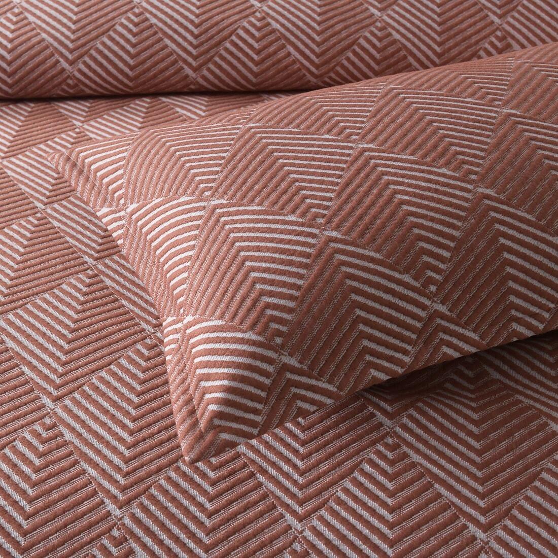 textured rust quilt cover set
