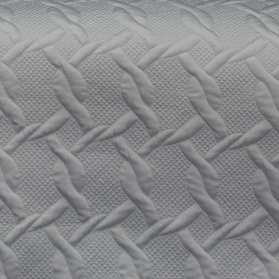Aiden silver grey duvet cover set. Quilted quilt cover.