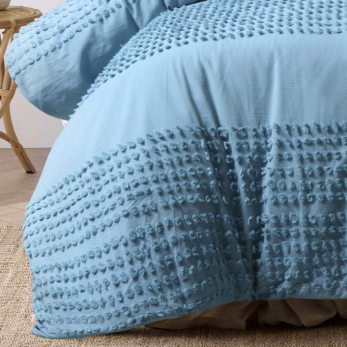 Tufted Marine Quilt Cover Set