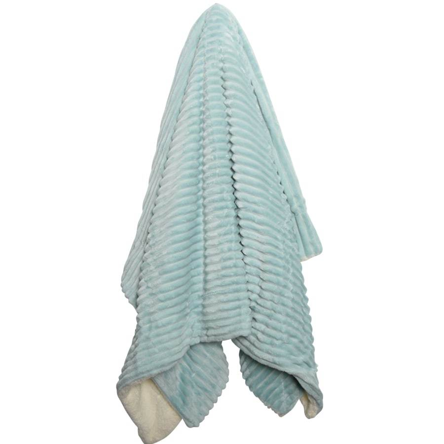 Blue brooklyn plush mink throw blanket