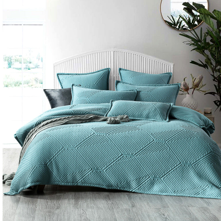 Byron Aqua Quilt Cover Set
