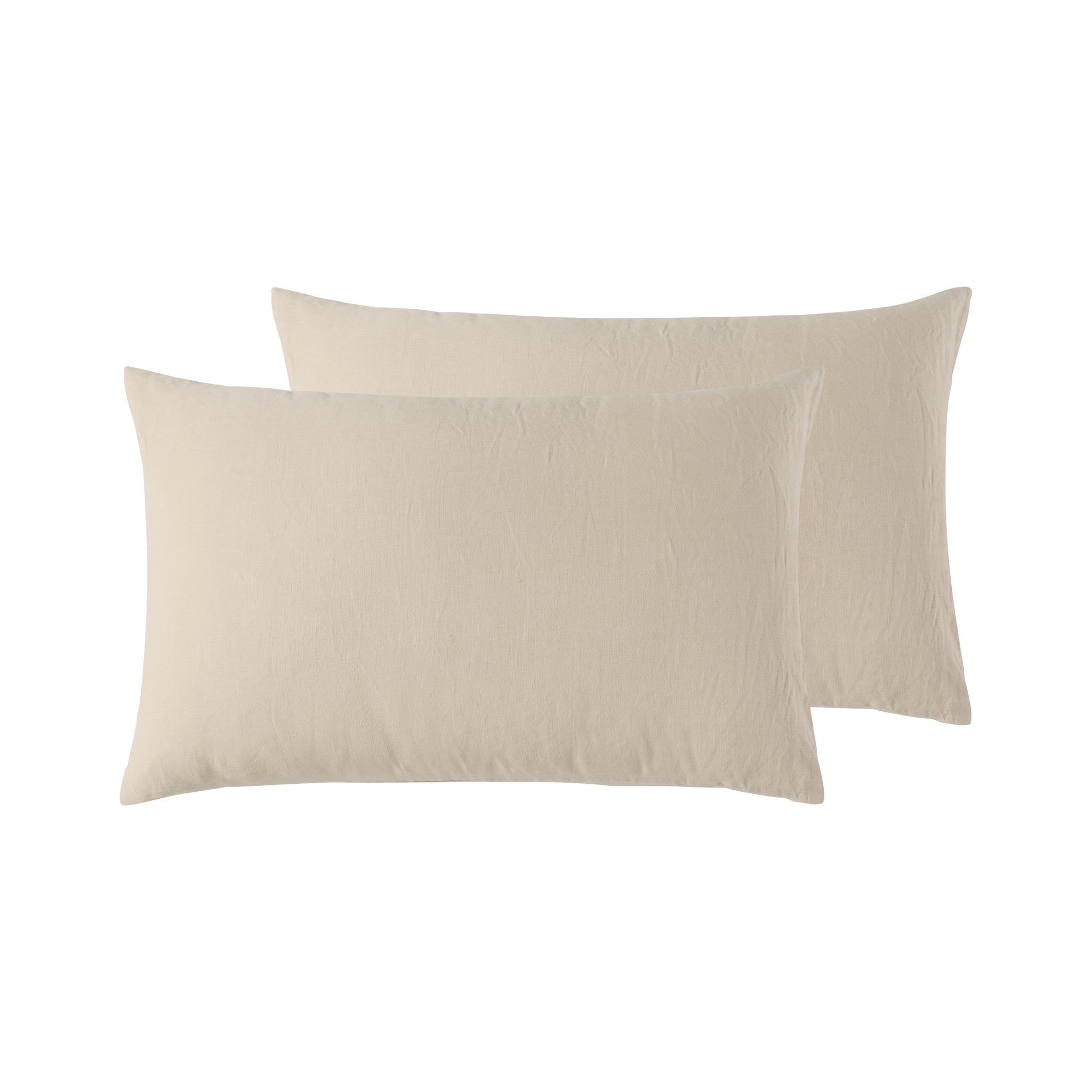 Birch / Beige - Pure Linen - Standard Pillowcase Pair