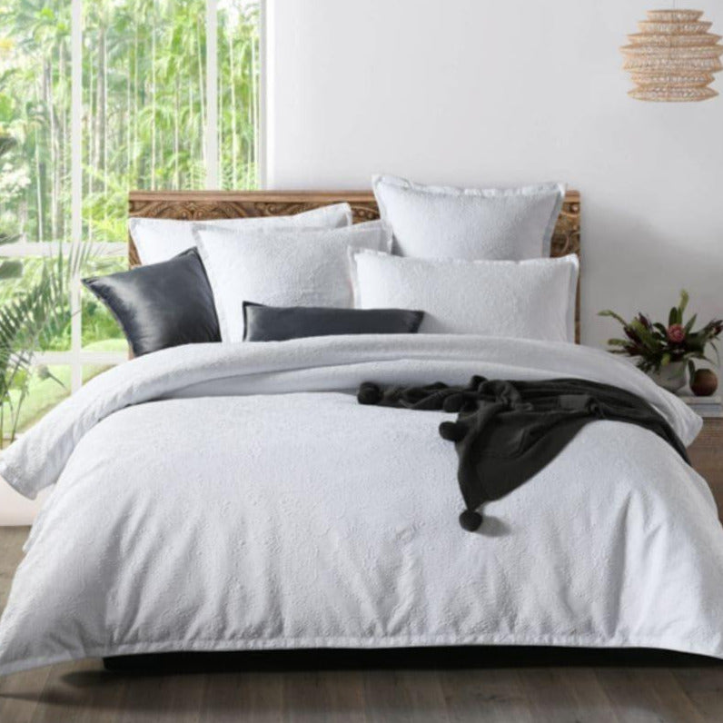 Chiara White Quilt Cover Set