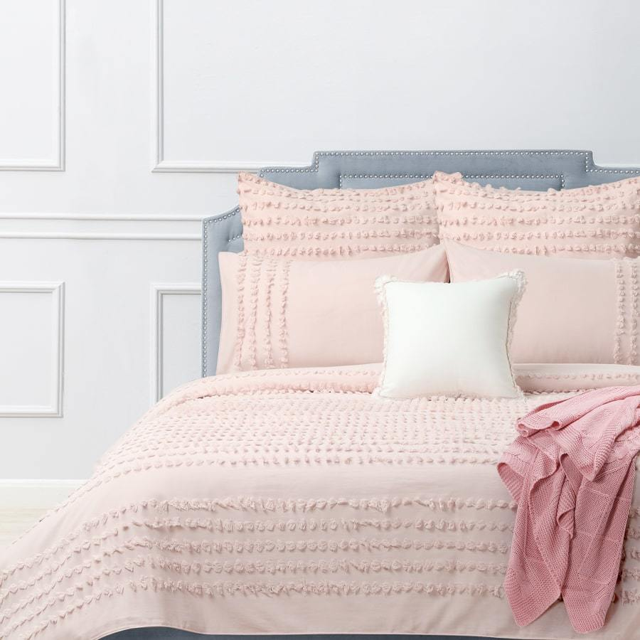 Dale Blush Quilt Cover Set
