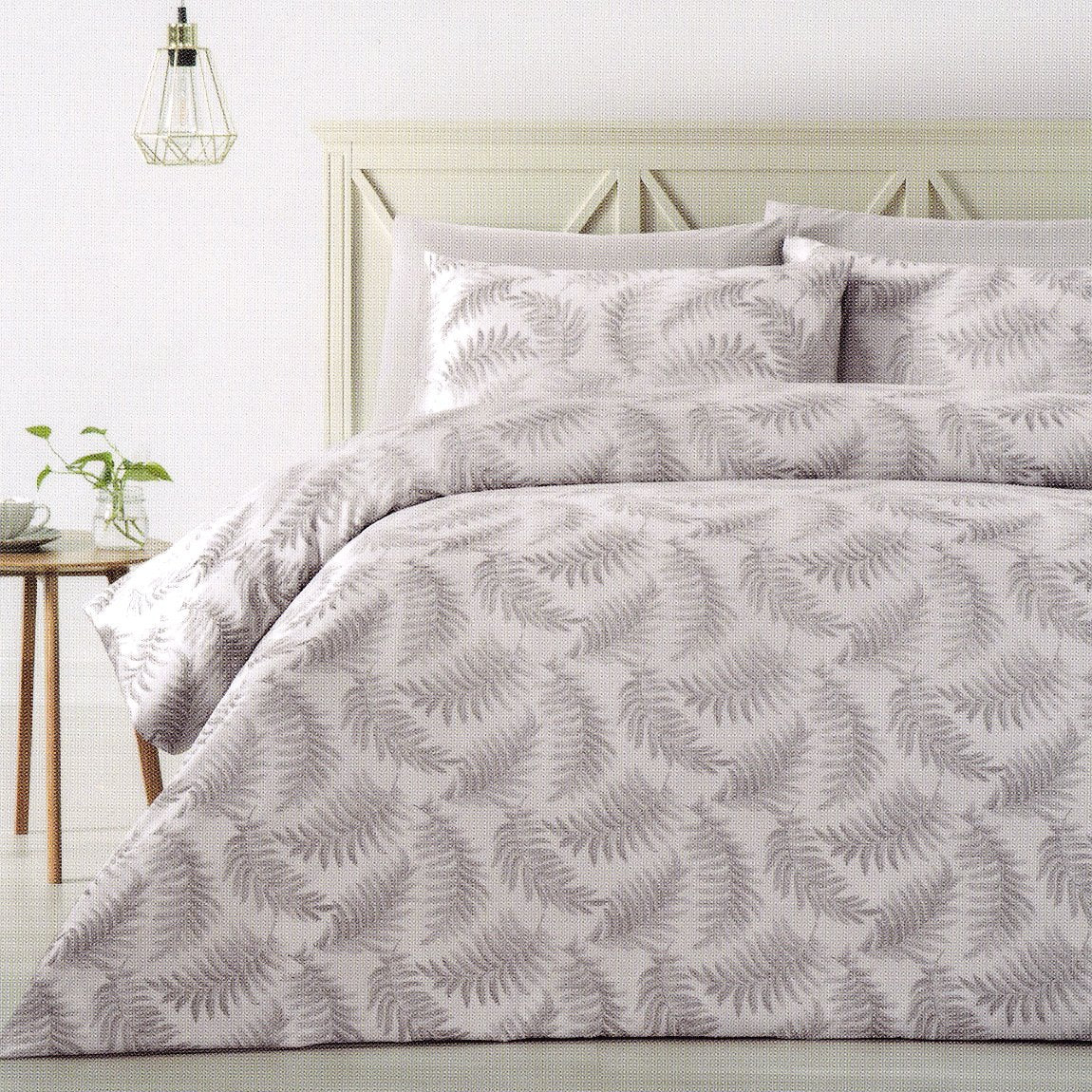 300TC Silver Grey duvet cover set. Polyester jacquard quilt cover set.