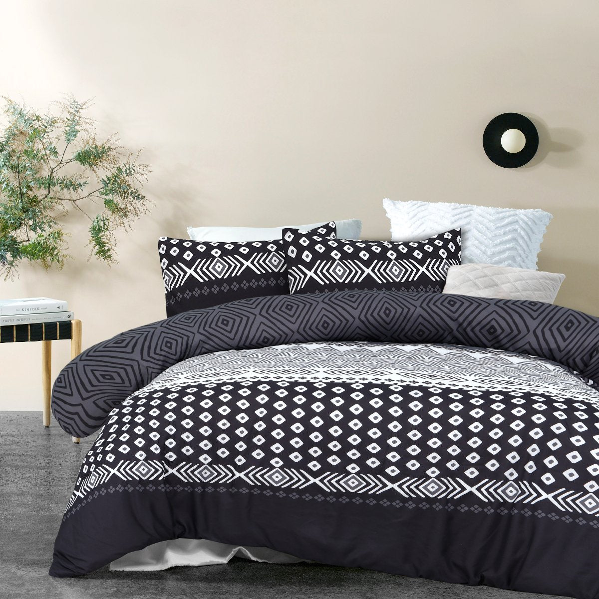 charcoal soft feel quilt cover set