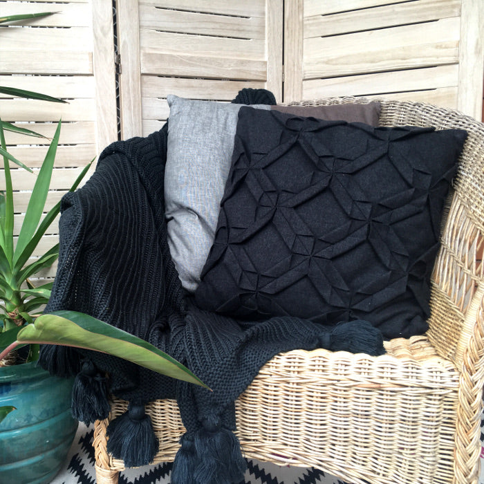 linen house cushion cover charcoal