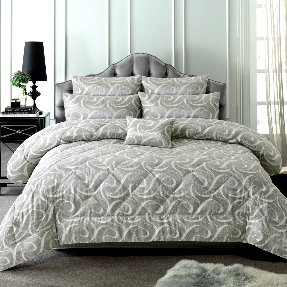 isabella grey comforter set