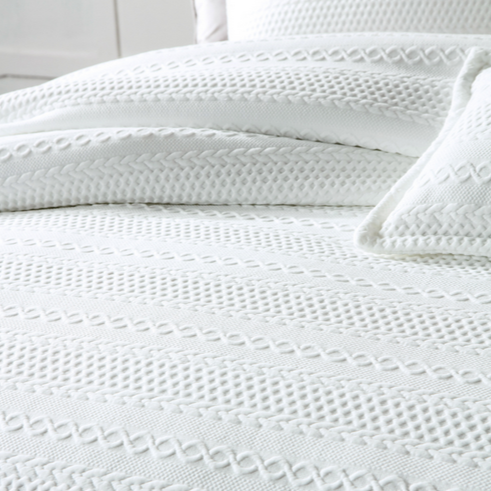 IVY White Quilt Cover Set