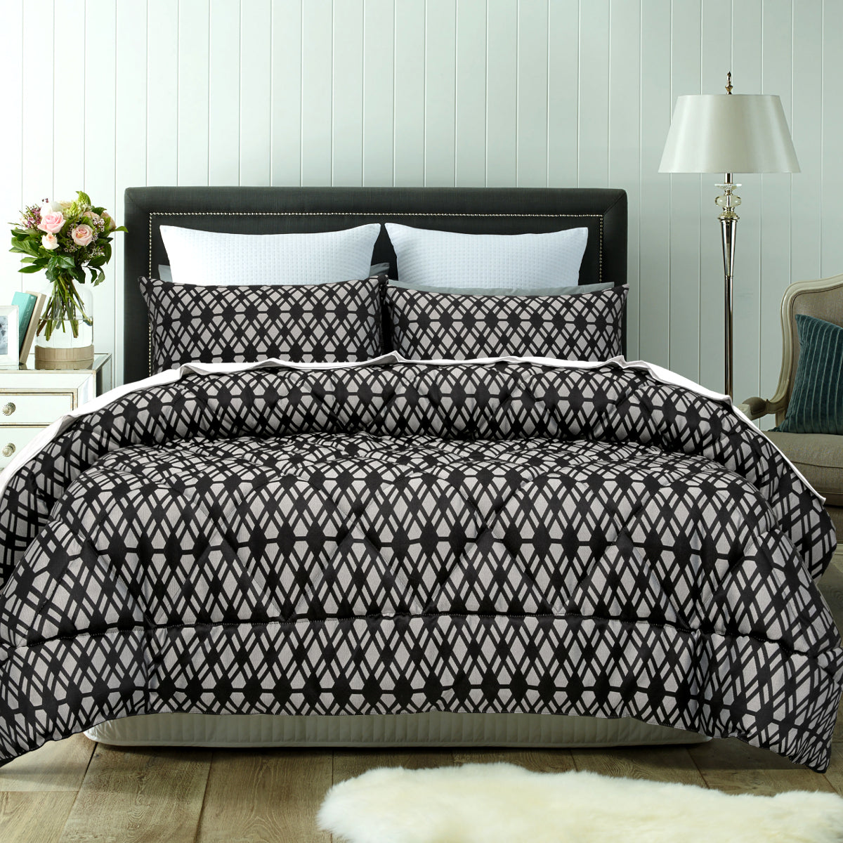 living black comforter set