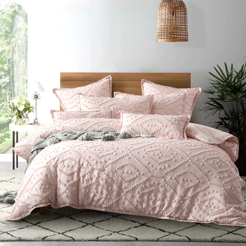 Micah Blush Quilt Cover Set