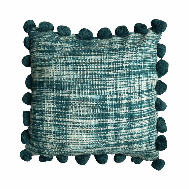 Mate Pom Pom Cushion Cover - Aqua