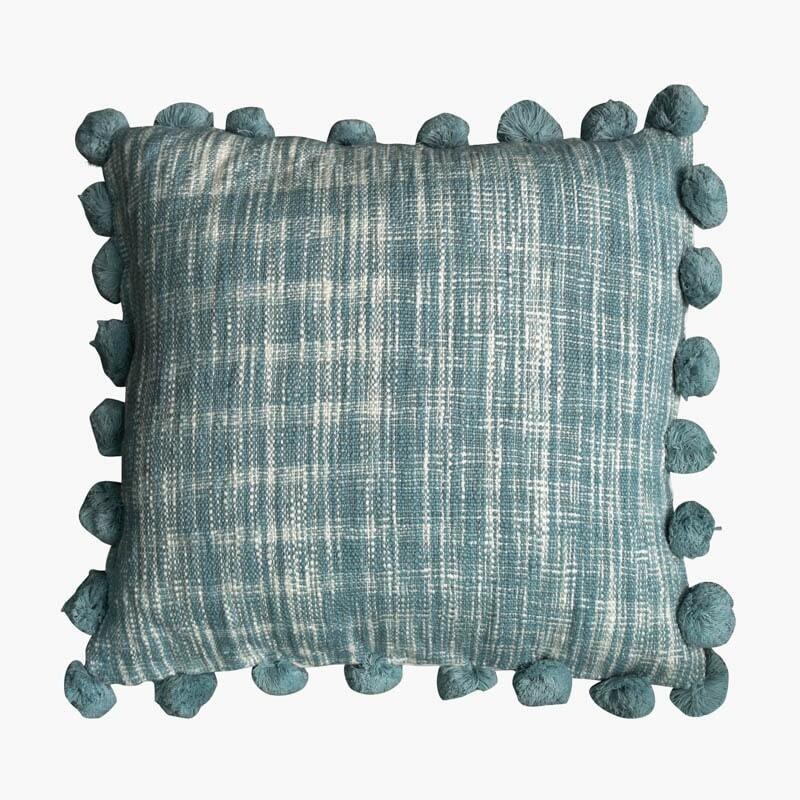 Mate Pom Pom Cushion Cover - Light Blue