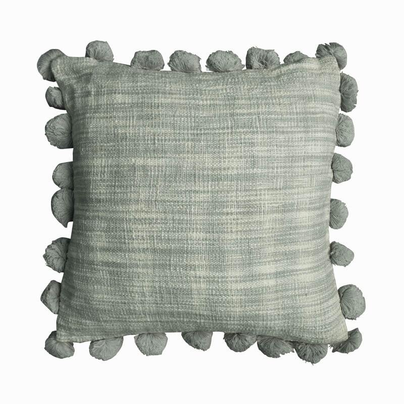 Mate Pom Pom Cushion Cover - Silver Grey