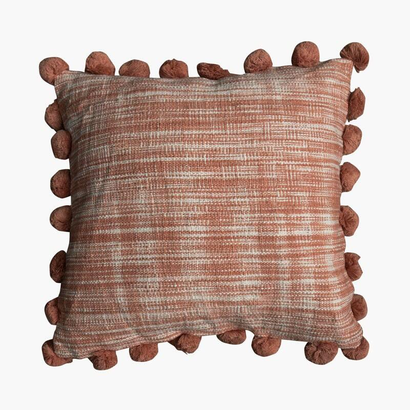 Mate Pom Pom Cushion Cover - Light Rust