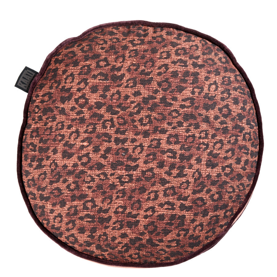 Pardus Rusty-Red Leopard Filled Cushion
