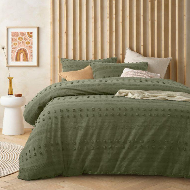 Sans Sovci Botanic Green Quilt Cover Set