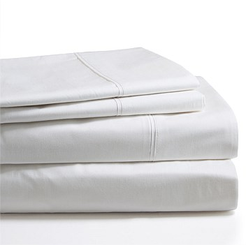 sheet set, 400TC, 100% cotton, satenn finish, white