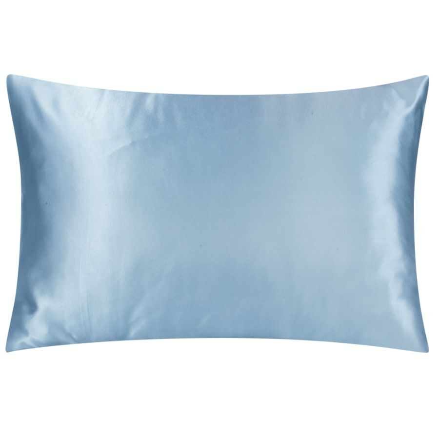 satin pillowcases soft blue