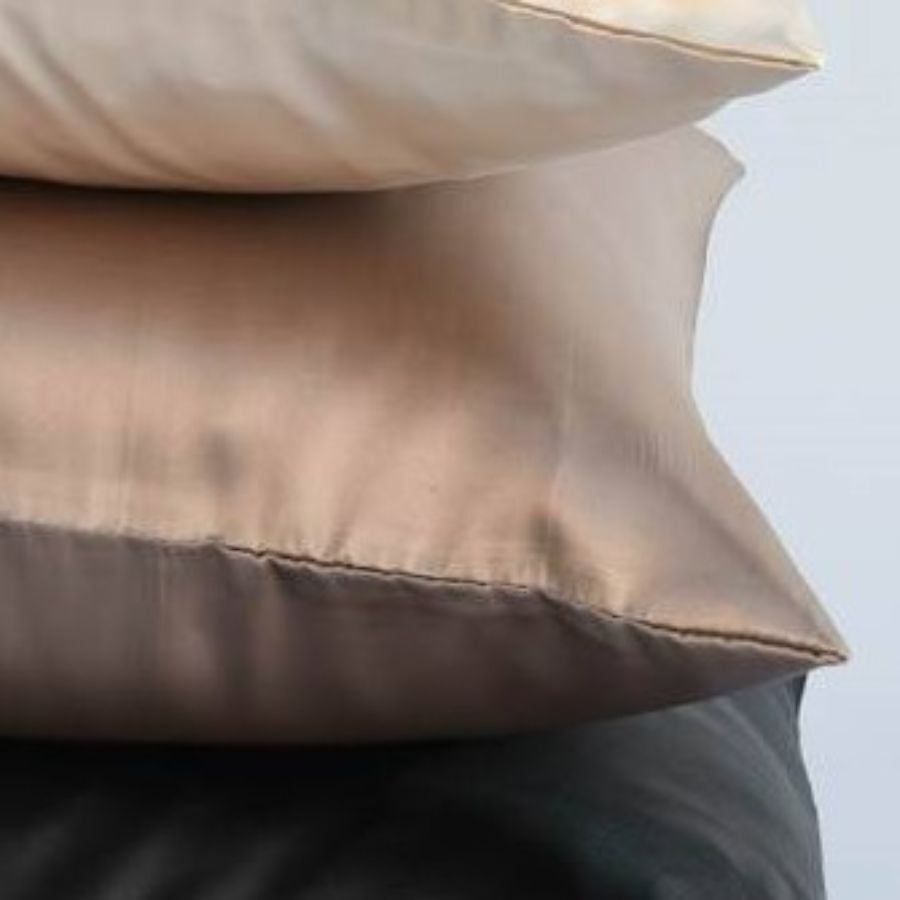 satin pillowcases gold beige