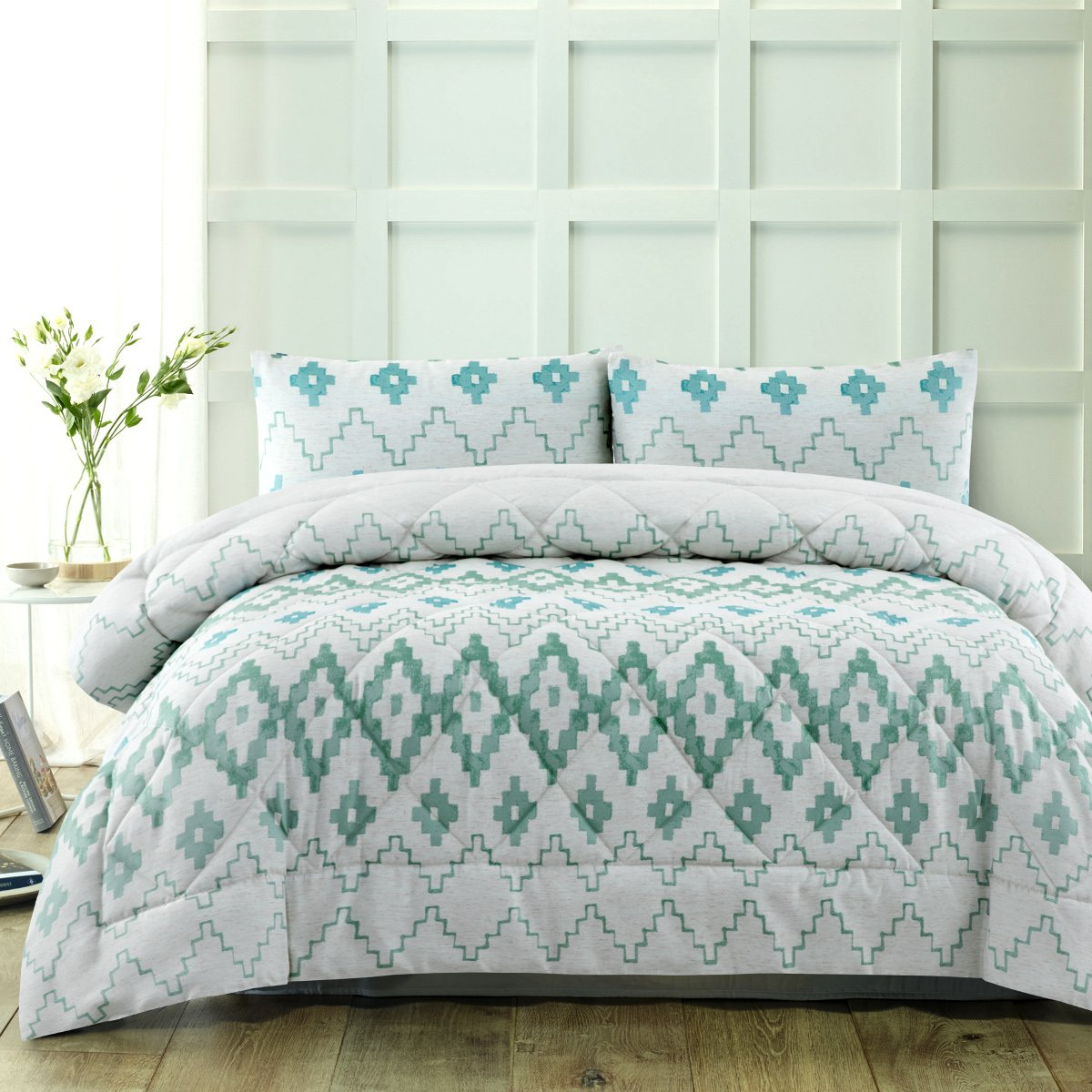 tribal green comforter set