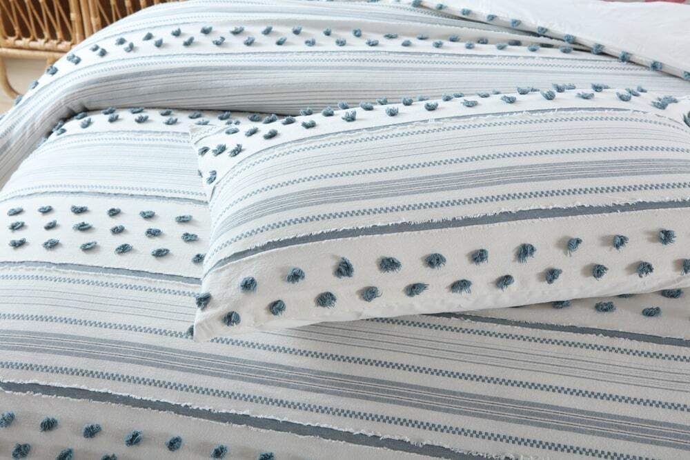 Harlow Teal Quilt Cover Set