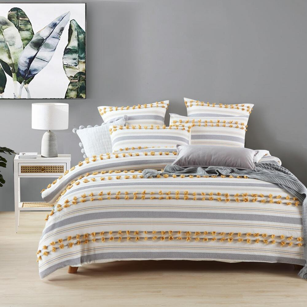 Urban Mustard Quilt Cover Set