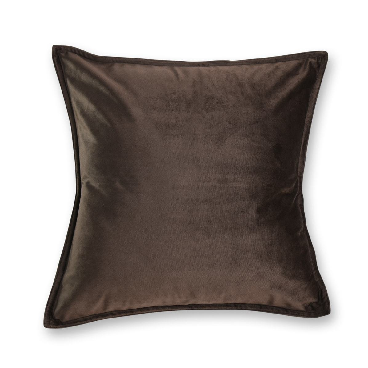 chocolate brown velvet european pillowcase