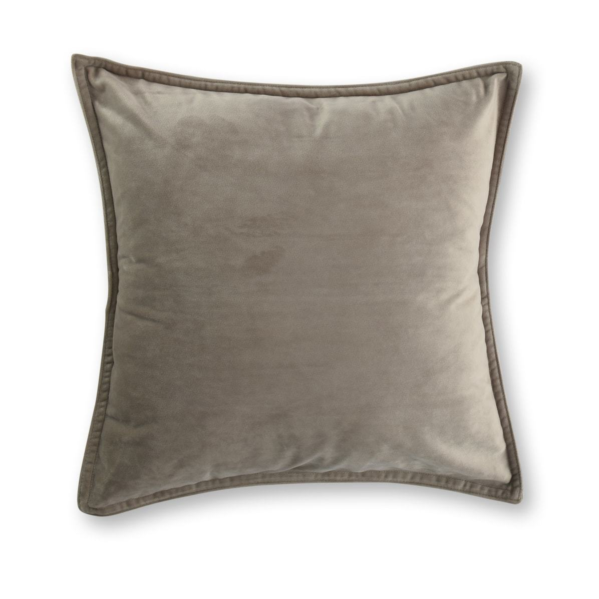 taupe velvet european pillowcase