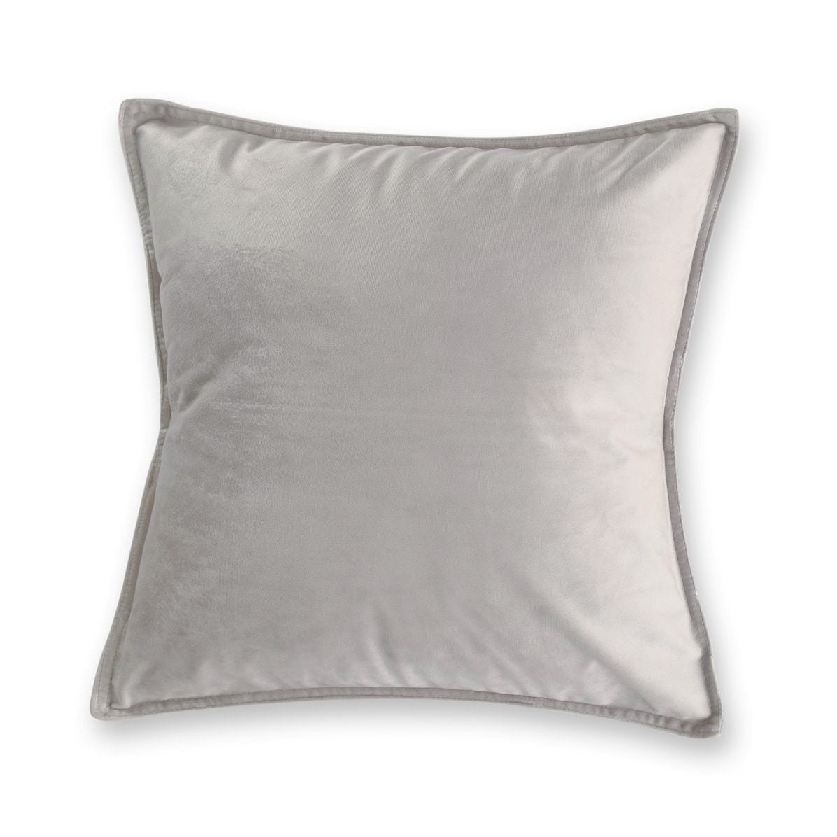 silver grey velvet european pillowcase