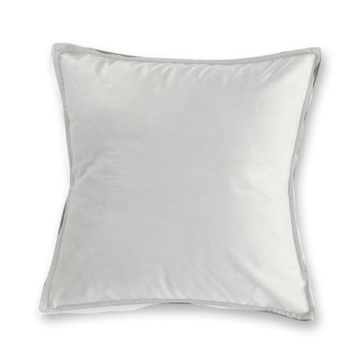 white velvet european pillowcase