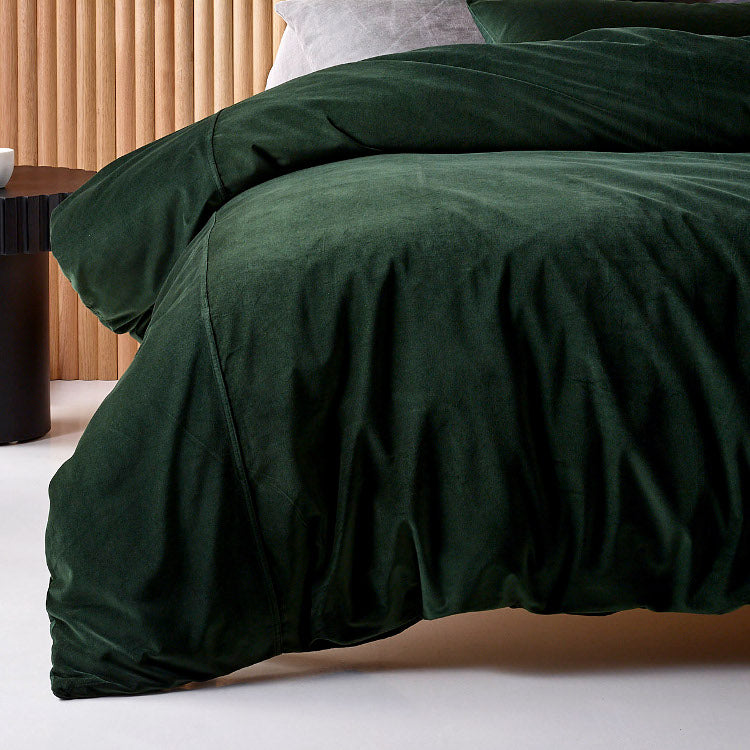 Forest Cotton Velvet Quilt Cover Set