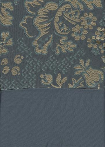 300TC Blue-green, gold duvet cover set. Polyester jacquard quilt cover set.