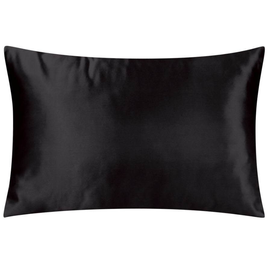 satin pillowcases black