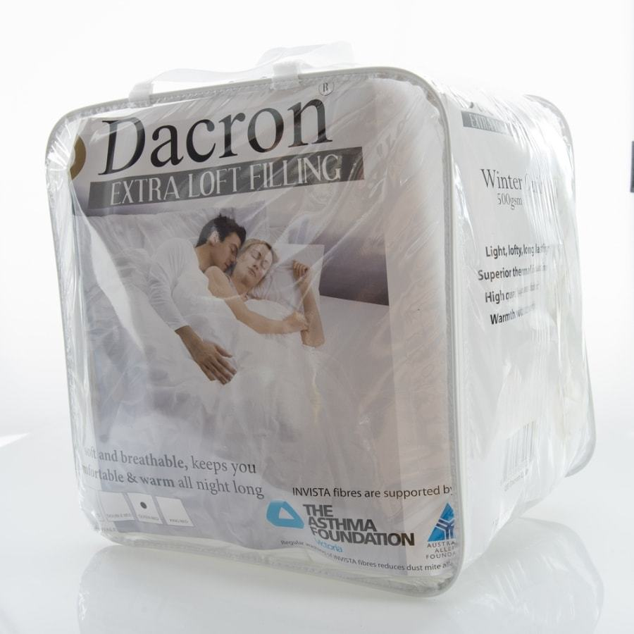 Dacron hypoallergenic Winter quilt with extra loft Queen Super King