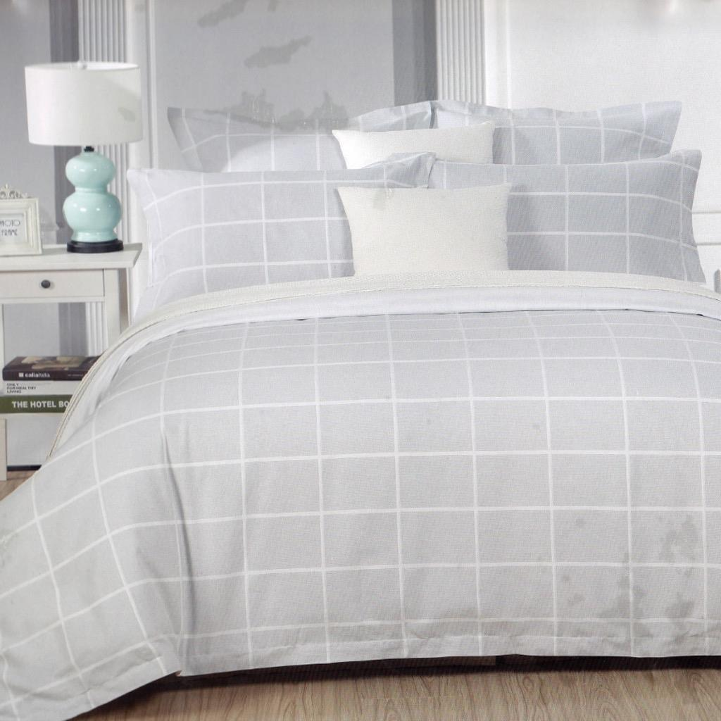 Graphite Cotton Quilt / Duvet Cover Set