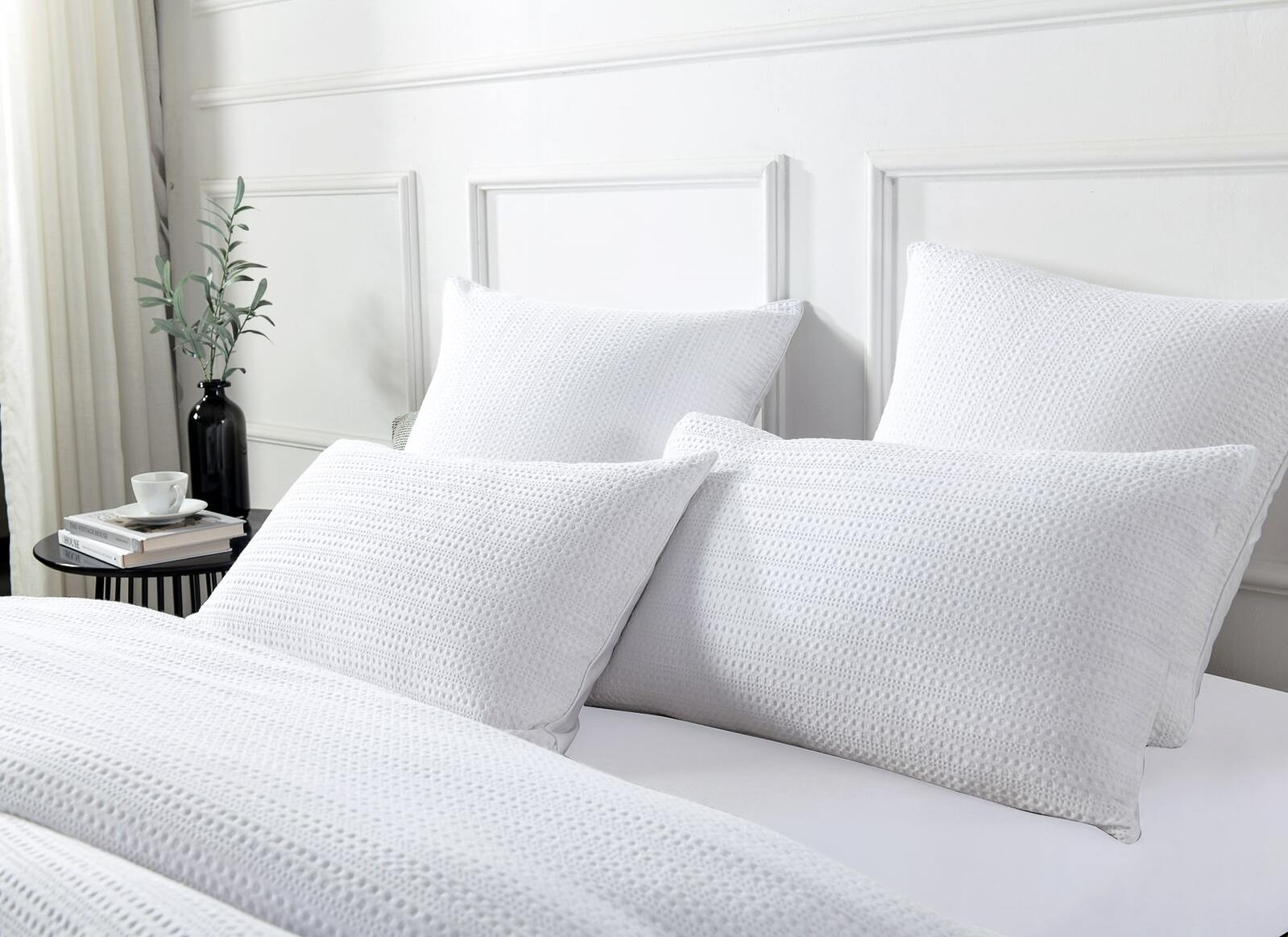 Jax Waffle White Quilt Cover Set