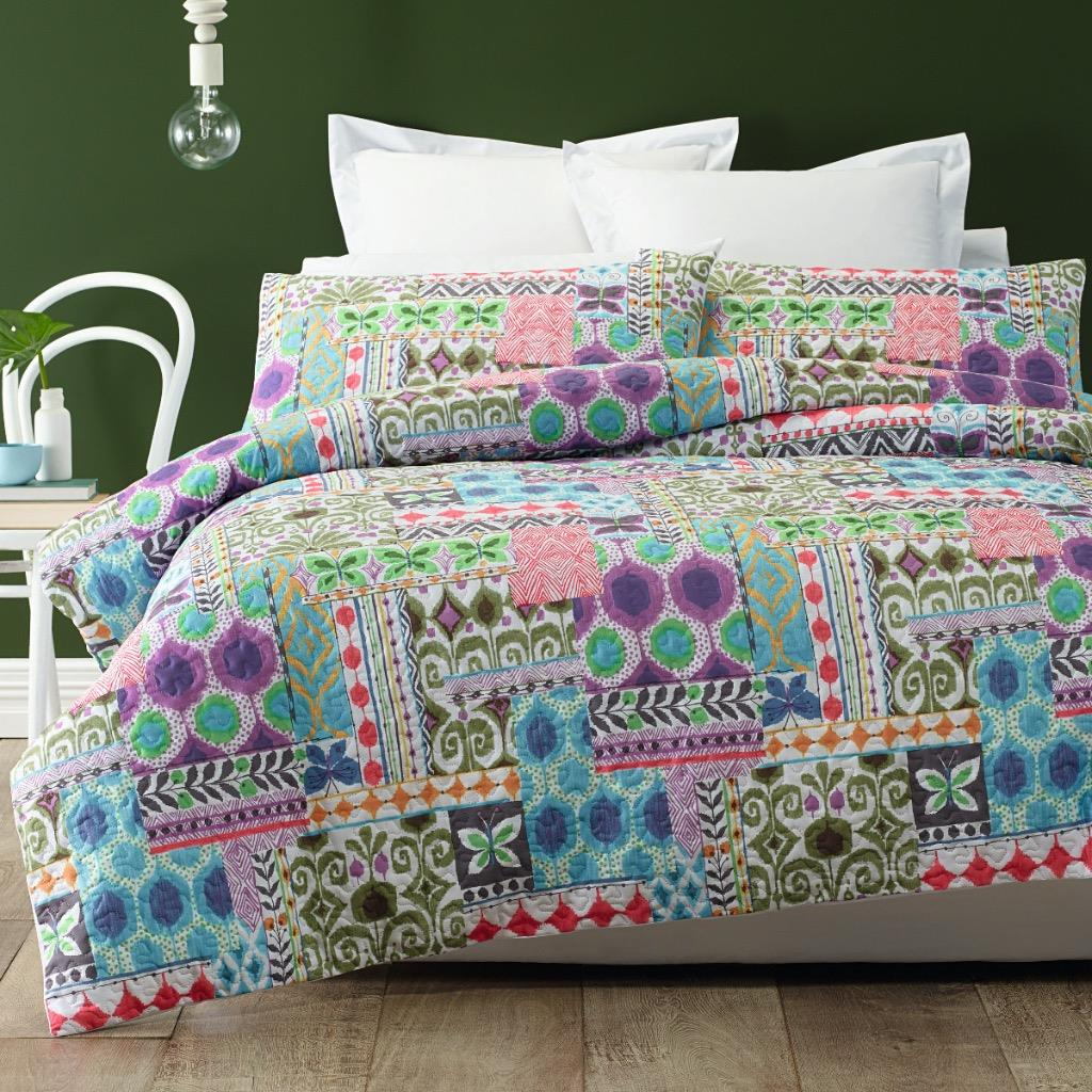 Peillion Quilted Effect Quilt / Duvet Cover Set