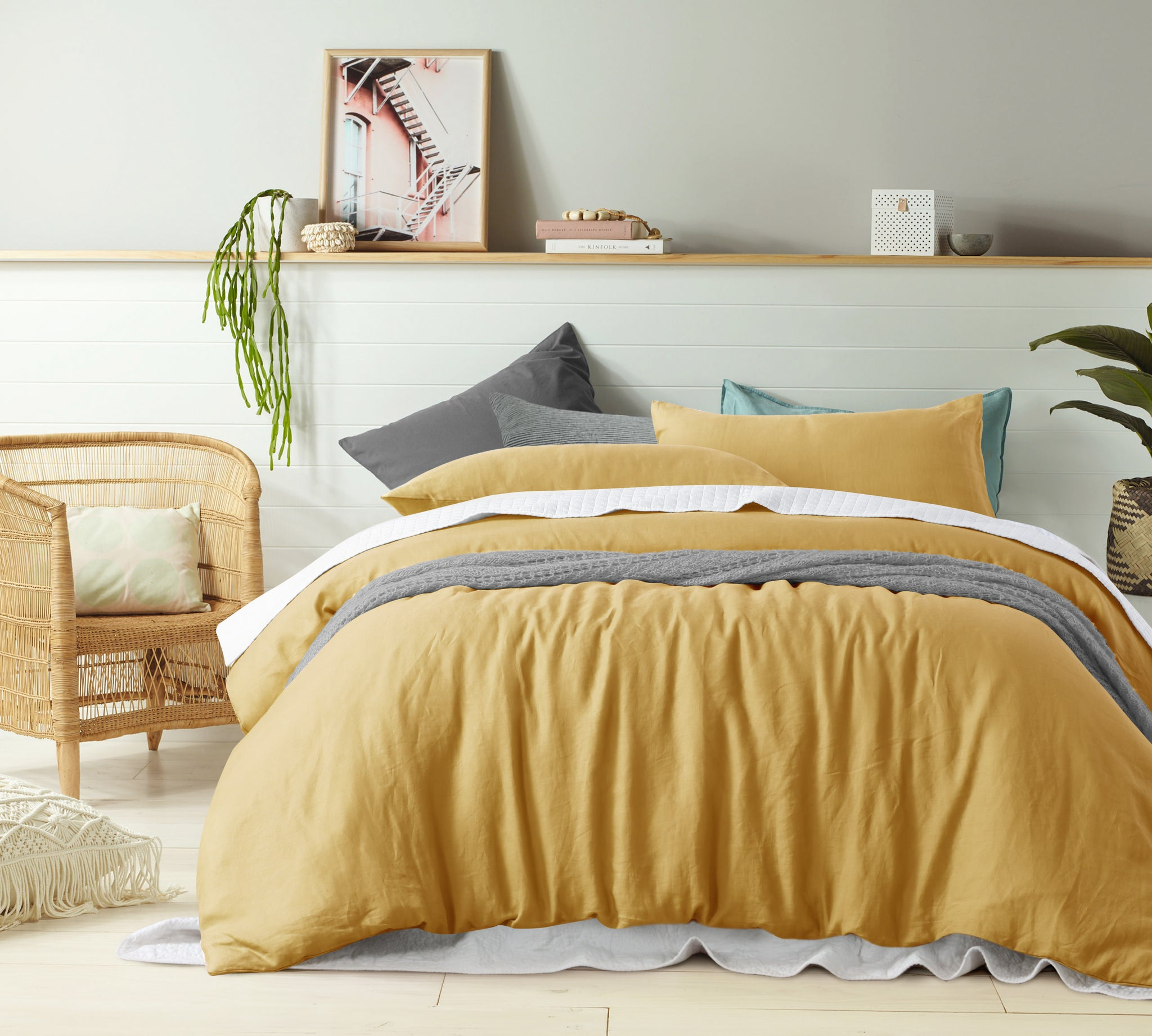 Ochre - 100% Pure Linen Quilt Cover Set