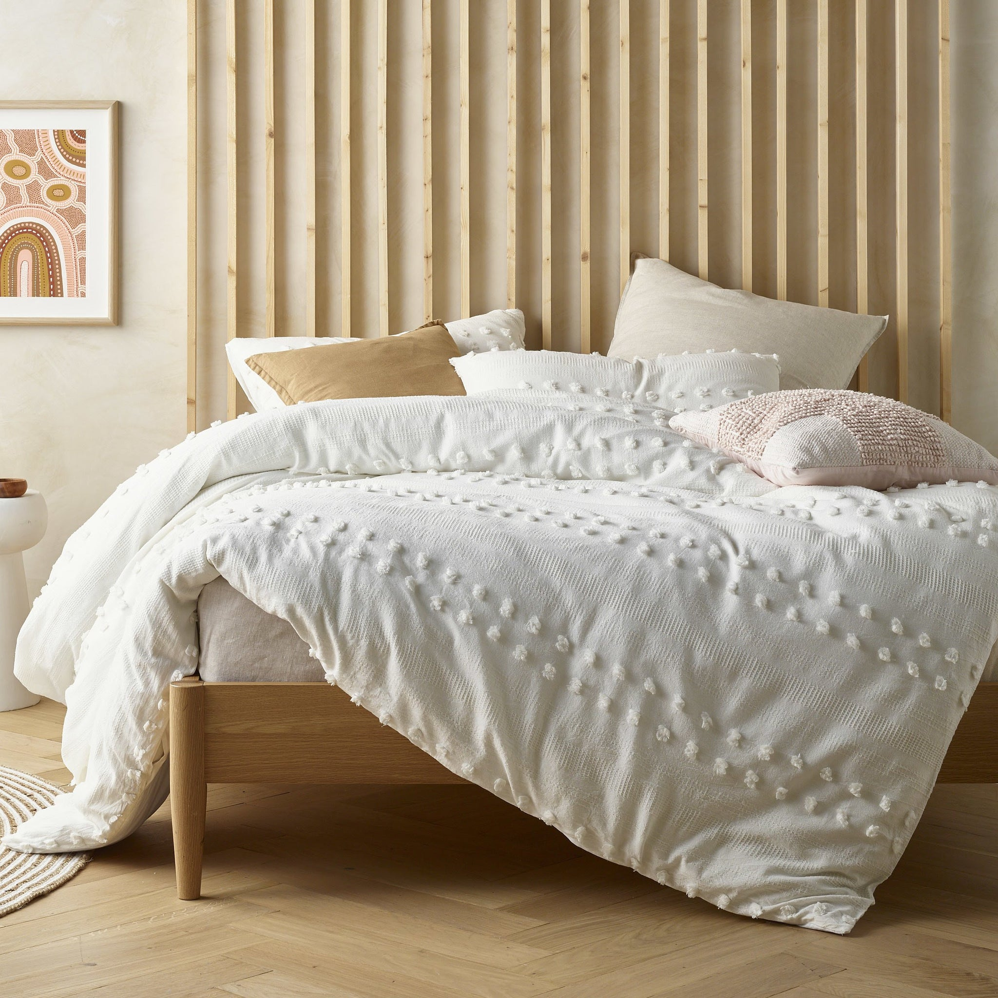Sans Sovci Natural White Quilt Cover Set