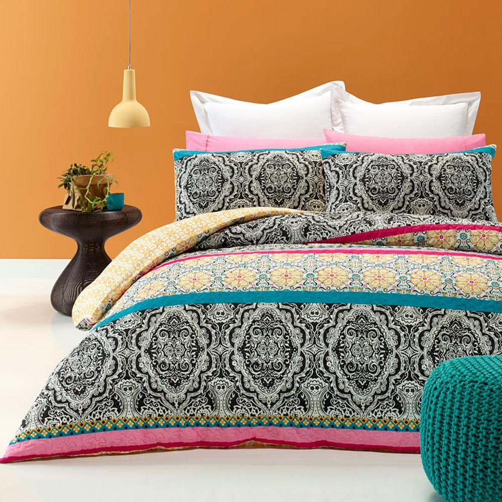 Swinton Quilted Effect Quilt / Duvet Cover Set