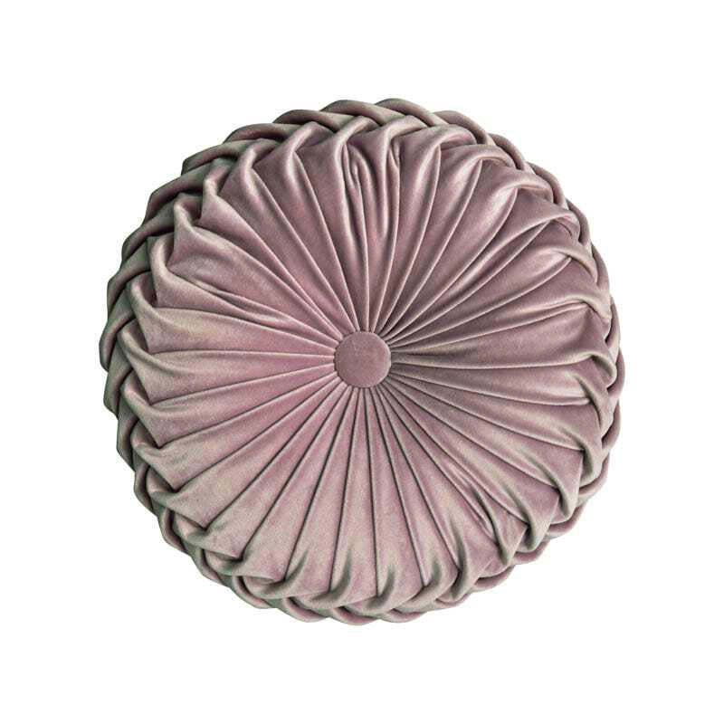 Velvet Pleated Round Filled Cushions