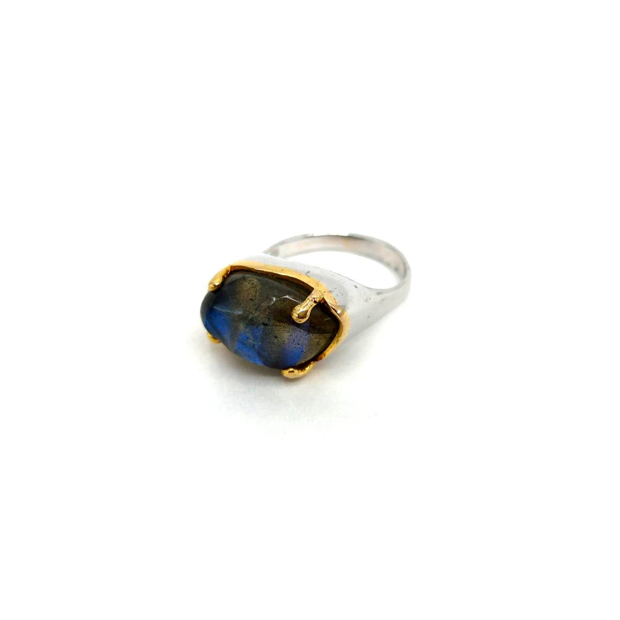 One Of A Kind Carved Labradorite Ring