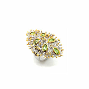 One Of A Kind Peridot And Green Sapphire Ring