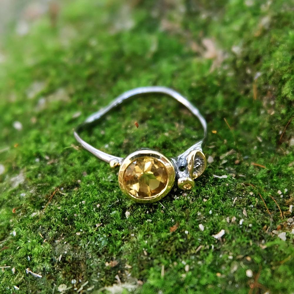 Stacking Citrine Ring-Rings-AdiOre Jewels