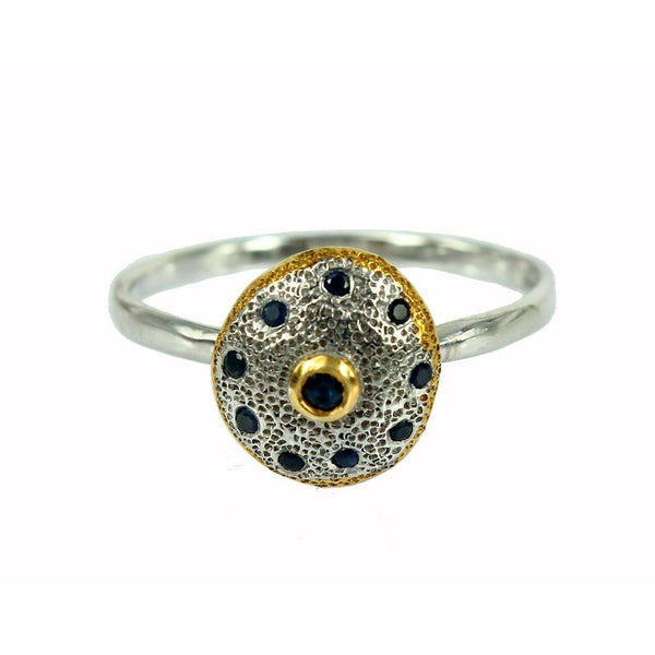 Stacking Blue Sapphire Ring-Rings-AdiOre Jewels