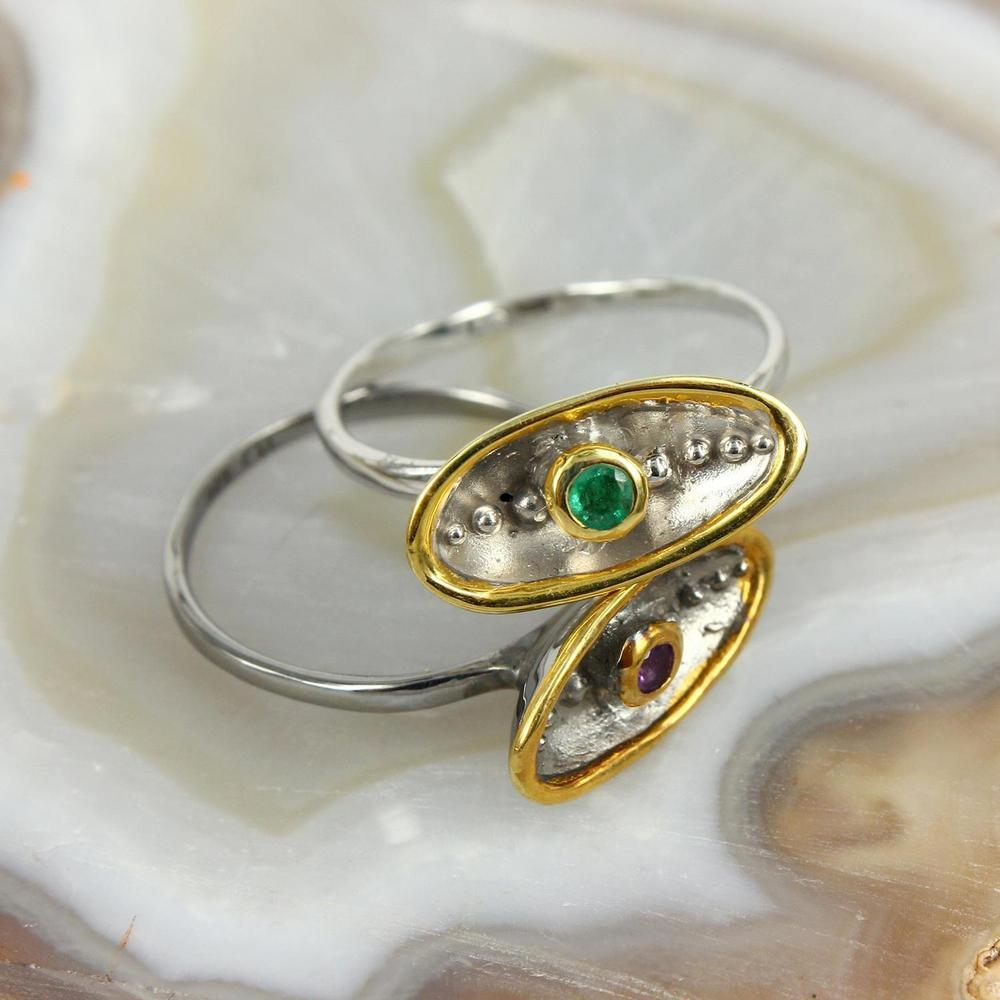 Stacking Emerald Ring-Rings-AdiOre Jewels