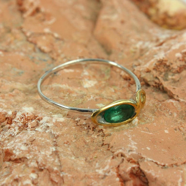 Stacking Emerald and Sapphire Ring-Rings-AdiOre Jewels