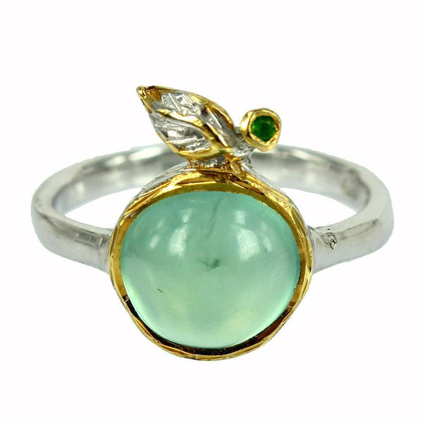 Stacking Prehnite and Diopside Ring-Rings-AdiOre Jewels